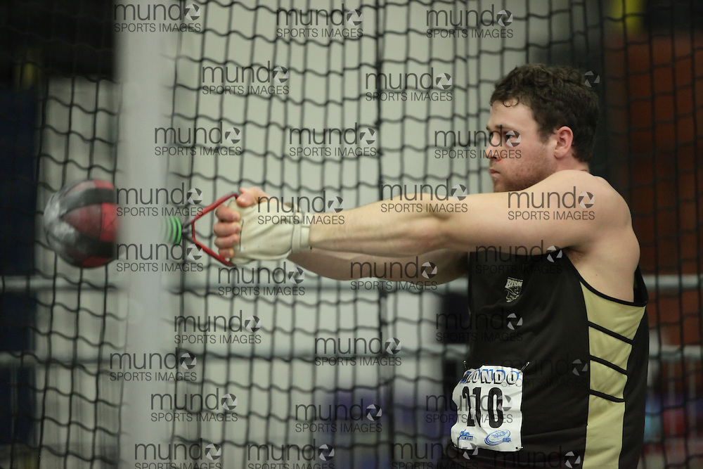 (Windsor, Ontario---12 March 2010) Garth Suppes of University of Manitoba   competes in the  at the 2010 Canadian Interuniversity Sport Track and Field Championships at the St. Denis Center. Photograph copyright Geoff Robins/Mundo Sport Images. www.mundosportimages.com