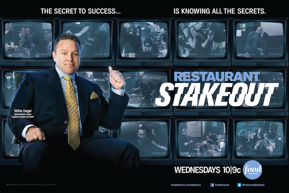 Advertising Image of Celebrity Chef Willie Degel from Restaurant Stakeout for Food Network by Michel Leroy PHOTOGRAPHER