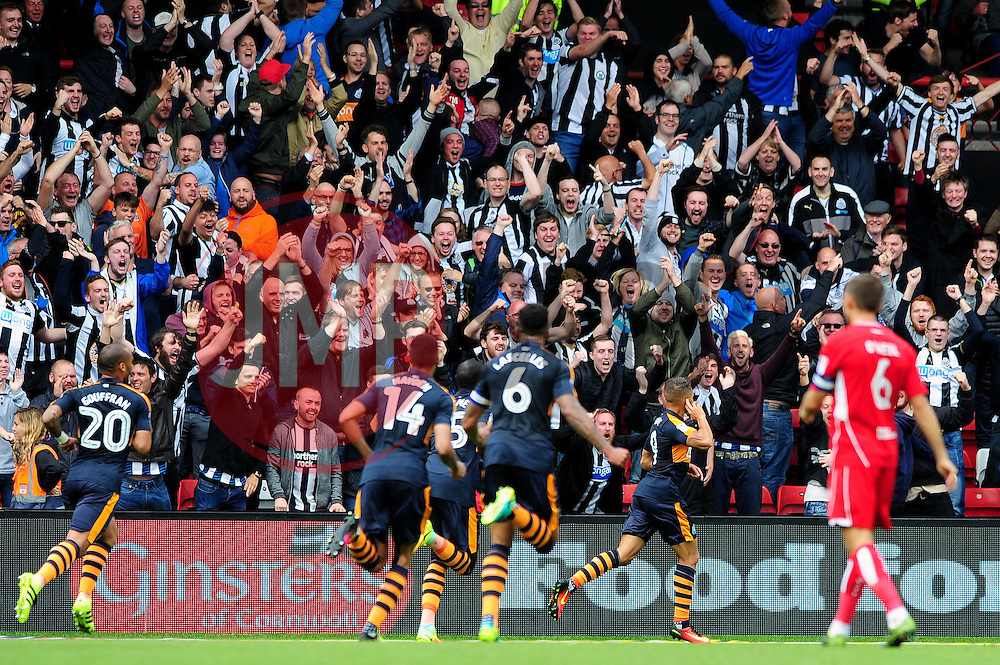 Dwight Gayle of Newcastle United celebrates his goal which makes it 1-0 - Mandatory by-line: Dougie Allward/JMP - 20/08/2016 - FOOTBALL - Ashton Gate - Bristol, England - Bristol City v Newcastle United - Sky Bet Championship