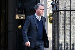 © Licensed to London News Pictures. 31/03/2016. London, UK. OLIVER LETWIN attending a meeting to discuss Tata Steel's decision to sell its UK business with Prime Minister David Cameron in Downing Street on Thursday, 31 March 2016. Photo credit: Tolga Akmen/LNP