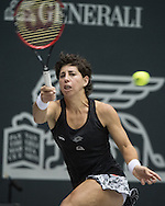 Carla Suarez Navarro (ESP) during the WTA Generali Ladies Open at TipsArena, Linz<br /> Picture by EXPA Pictures/Focus Images Ltd 07814482222<br /> 11/10/2016<br /> *** UK &amp; IRELAND ONLY ***<br /> <br /> EXPA-REI-161011-5009.jpg