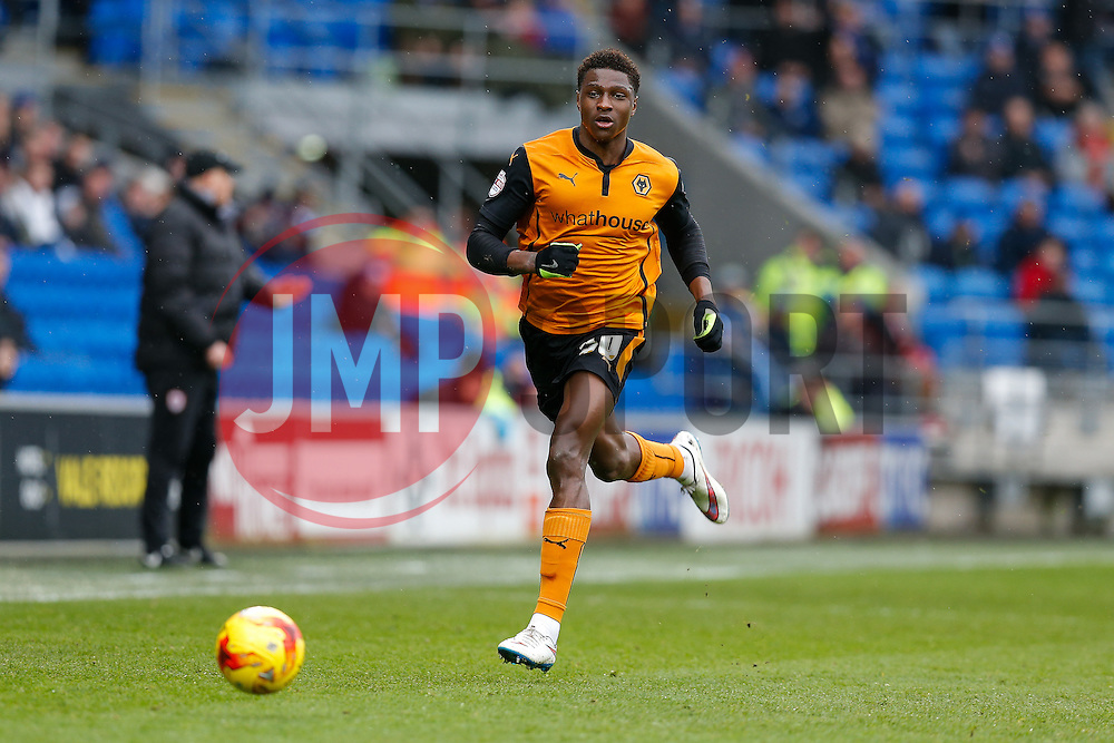 Kortney Hause of Wolverhampton Wanderers in action - Photo mandatory by-line: Rogan Thomson/JMP - 07966 386802 - 28/02/2015 - SPORT - FOOTBALL - Cardiff, Wales - Cardiff City Stadium - Cardiff City v Wolverhampton Wanderers - Sky Bet Championship.