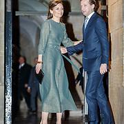 NLD/Amsterdam/20180203 - 80ste Verjaardag Pr.Beatrix, aankomst Floris van Oranje-Nassau en partner Aimée Söhngen