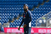 Adil Rashid of England warming up before the International T20 match between England and India at the SWALEC Stadium, Cardiff, United Kingdom on 6 July 2018. Picture by Graham Hunt.