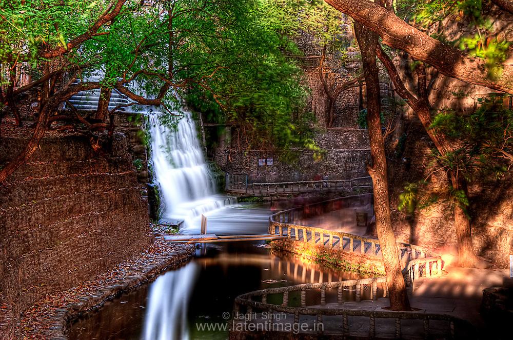 Waterfall at Rock Garden, Chandigarh