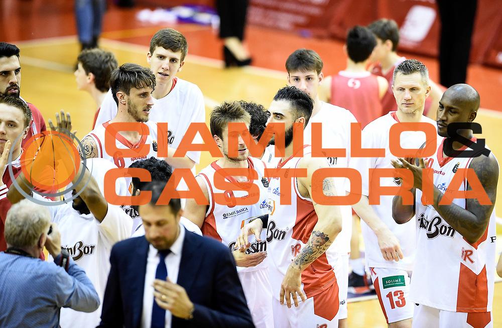 Grissin Bon Pallacanestro Reggio Emilia<br /> Grissin Bon Pallacanestro Reggio Emilia - The Flexx Pistoia Basket<br /> Lega Basket Serie A 2016/2017<br /> Reggio Emilia, 30/04/2017<br /> Foto A.Giberti / Ciamillo - Castoria