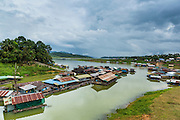 15 SEPTEMBER 2014 - SANGKHLA BURI, KANCHANABURI, THAILAND:  The Song Kalia River in Sangkhla Buri, Kanchanburi, Thailand.    PHOTO BY JACK KURTZ