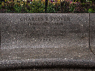 Charles B. Stover bench near Shakespeare Garden in Central Park