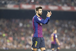 October 20, 2018 - Barcelona, Catalonia, Spain - FC Barcelona defender Gerard Pique (3) during the match FC Barcelona against Sevilla FC, for the round 9 of the Liga Santander, played at Camp Nou  on 20th October 2018 in Barcelona, Spain. (Credit Image: © Mikel Trigueros/NurPhoto via ZUMA Press)