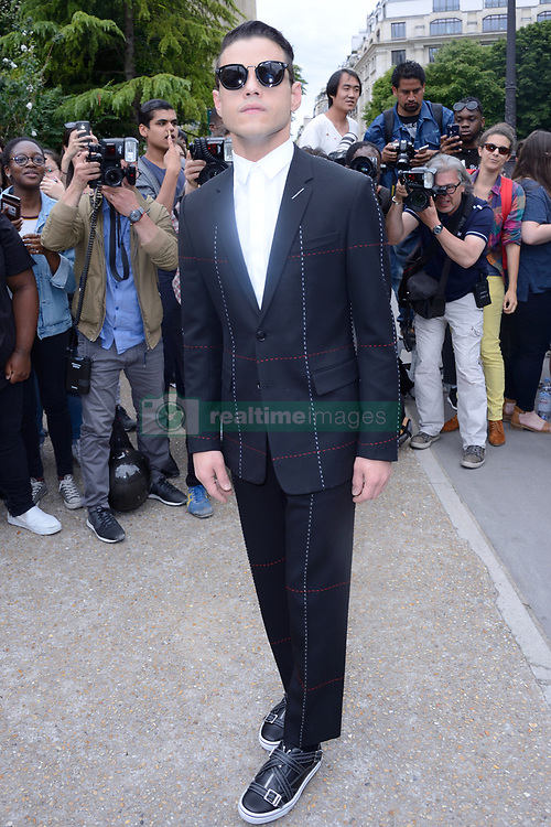Rami Malek attending the Dior Homme show during the Paris Men&