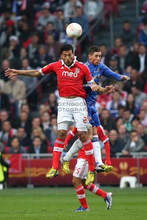 15-05-2013 VOETBAL: UEFA EL FINALE BENFICA - FC CHELSEA: AMSTERDAM<br /> EZEQUIEL GARAY FERNANDO TORRES<br /> ***NETHERLANDS ONLY***<br /> &copy;2013-FotoHoogendoorn.nl