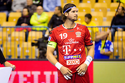 Laszlo Nagy  of Telekom Veszprem HC during handball match between RK Celje Pivovarna Lasko and Telekom Veszprem in 1st round of VELUX EHF Champions League, on September 16, 2017 in Arena Zlatorog, Celje, Slovenia. Photo by Ziga Zupan / Sportida
