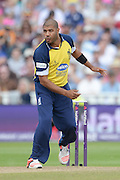 Jeetan Patal during the NatWest T20 Blast semi final match between Northamptonshire County Cricket Club and Warwickshire County Cricket Club at Edgbaston, Birmingham, United Kingdom on 29 August 2015. Photo by David Vokes.
