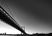 Black and White image of the RFK/Tri-Borough Bridge Located in New York City.