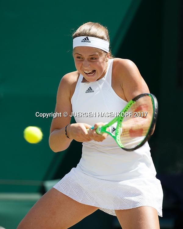 JELENA OSTAPENKO (LAT)<br /> <br /> Tennis - Wimbledon 2017 - Grand Slam ITF / ATP / WTA -  AELTC - London -  - Great Britain  - 10 July 2017.