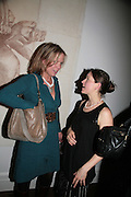 FLORA FAIRBAIRN AND RHIANNA LANG, Joe la Placa in collaboration with Dickinson presents WOLFE LENKIEWICZ nu-trinity Private View October 9, 2007-DO NOT ARCHIVE-© Copyright Photograph by Dafydd Jones. 248 Clapham Rd. London SW9 0PZ. Tel 0207 820 0771. www.dafjones.com.