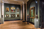 The National Portrait Gallery, London opens brand new gallery spaces devoted to its early 20th Century Collection on 4 November 2017. The creation of these new spaces within the Gallery's free permanent Collection, has been made possible by a grant from the DCMS/ Wolfson Museums & Galleries Improvement Fund. London 03 Nov 2017.
