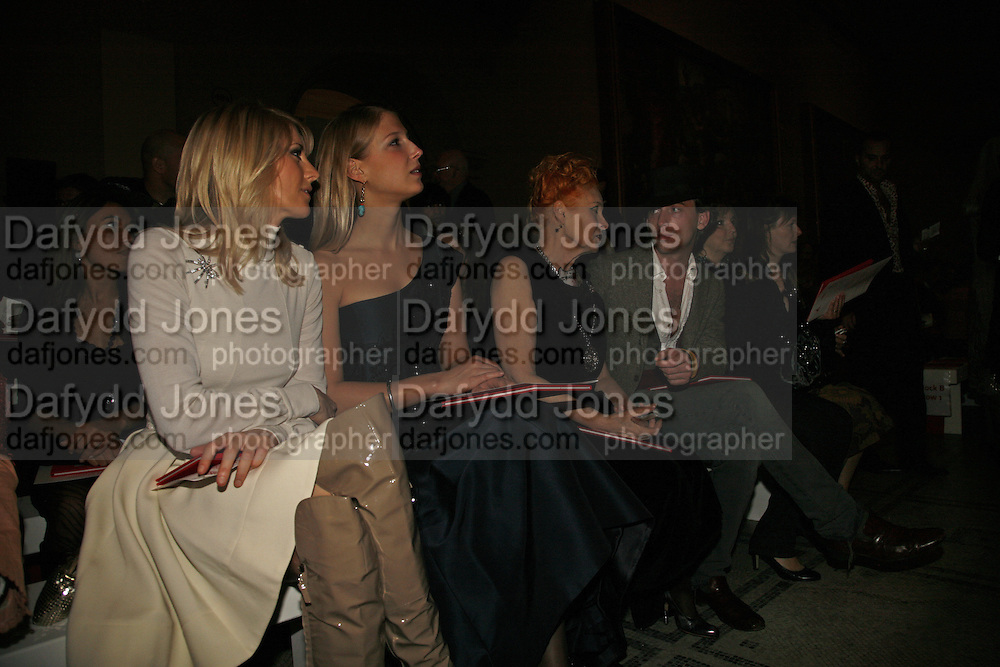 Lady Emily Compton, Lady Gabriella Windsor, Vivienne Westwood and Andrew Steggall, Party to celebrate the Christian Lacroix Fashion in Motion fashion show and the opening of  	M/M Paris: Antigone Under Hypnosis part of  Paris Calling the UK-wide celebration of contemporary French culture. V. & A. London. 31 October 2006. -DO NOT ARCHIVE-© Copyright Photograph by Dafydd Jones 66 Stockwell Park Rd. London SW9 0DA Tel 020 7733 0108 www.dafjones.com