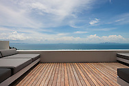 Study terrace at Lime Villa 4, a luxury private, ocean view villa, Koh Samui, Surat Thani, Thailand