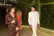 DASHA ZHUKOVA; HARRY BRANT, Serpentine's Summer party co-hosted with Christopher Kane. 15th Serpentine Pavilion designed by Spanish architects Selgascano. Kensington Gardens. London. 2 July 2015.