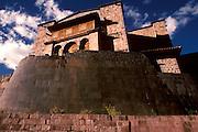 PERU, CUZCO, INCA Coricancha Sun Temple, Santo Domingo