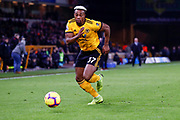 Wolverhampton Wanderers forward Adama Traore (37) in action  during the Premier League match between Wolverhampton Wanderers and Newcastle United at Molineux, Wolverhampton, England on 11 February 2019.