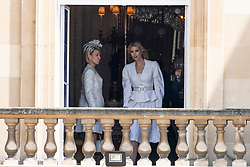 © Licensed to London News Pictures. 03/06/2019. London, UK. Ivanka Trump (R) attends a ceremonial welcome at Buckingham Palace in honour of US President Donald Trump. The visit is on the first day of a three day state visit. Photo credit: Ray Tang/LNP