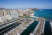Ala Wai Yacht Harbor, Waikiki Beach, Waikiki, Oahu, Hawaii<br />