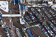 Nederland, Utrecht, Utrecht, 31-01-2010; Croeselaan, parkeerterein en ingang / uitgang van de Jaarbeurs;.parking and entrance / exit of the Fair;.luchtfoto (toeslag), aerial photo (additional fee required).foto/photo Siebe Swart