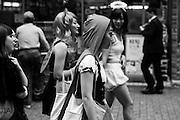 Girls walking in Shibuya for Halloween
