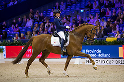 Nieuwenhuis Jeanine, NED, Genua TC<br /> Final Subli Young Dressage horses 5 years of age<br /> Jumping Amsterdam 2017<br /> © Hippo Foto - Leanjo de Koster<br /> 26/01/17