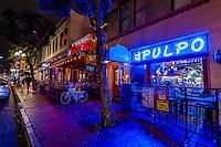 Gaslamp Quarter, Downtown San Diego, California USA.