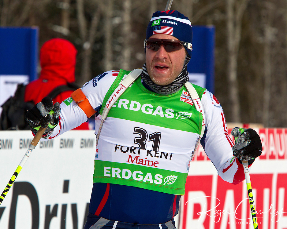 E.ON IBU World Cup Biathlon at the 10th Mountain Ski Center in Fort Kent Maine February 12, 2011. Men's Pursuit winners were in order; Emil Hegle (Norway), Martin Fourcade (France), Tarjei Moe (Norway)..Top USA finishers Lowell Baley (25th), Jay Hakkinen (34th), Leif Nordgren (40th), Tim Burke (49).