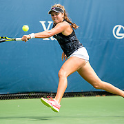 August 21, 2016, New Haven, Connecticut: <br /> Kayla Day of the United States in action during Day 3 of the 2016 Connecticut Open at the Yale University Tennis Center on Sunday, August  21, 2016 in New Haven, Connecticut. <br /> (Photo by Billie Weiss/Connecticut Open)