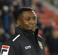 Picture by David Horn/Focus Images Ltd +44 7545 970036<br /> 17/09/2013<br /> Chris Kiwomya of Notts County during the Sky Bet League 1 match at the Matchroom Stadium, London.