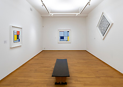 Paintings by PIET MONDRIAAN at the Gemeentemuseum in The Hague, Den Haag, The Netherlands