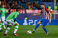 PSV Eindhoven's Santiago Arias and Atletico de Madrid's Yannick Ferreira Carrasco  during the Champions League match between Atletico de Madrid and PSV Eindhoven at Vicente Calderon Stadium in Madrid , Spain. November 23, 2016. (ALTERPHOTOS/Rodrigo Jimenez)