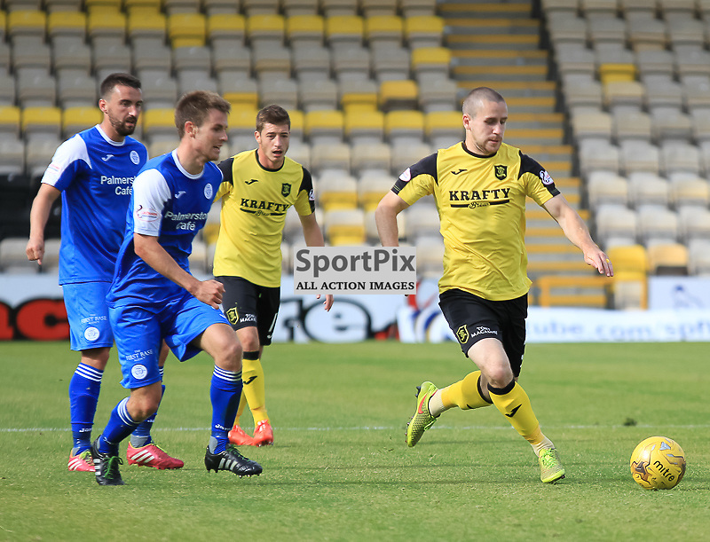 Livingston V Queen of the South Scottish Championship 15 August 2015;  Livingston's Gary Glen during the Livingston V Queen of the South Scottish Championship match played at The Energy Assets Arena, Livingston.