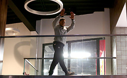 Panos Mayindombe waves to the fans at the launch event for the 2017/18 season - Mandatory by-line: Robbie Stephenson/JMP - 11/09/2017 - BASKETBALL - Ashton Gate - Bristol, England - Bristol Flyers 2017/18 Season Launch