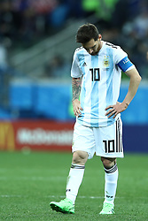 June 21, 2018 - Nizhny Novgorod, Russia - Group D Argentina v Croazia - FIFA World Cup Russia 2018.The disappointment of Lionel Messi (Argentina) at Nizhny Novgorod Stadium, Russia on June 21, 2018. (Credit Image: © Matteo Ciambelli/NurPhoto via ZUMA Press)
