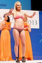 Nusa Bucar during event Miss Sports of Slovenia 2013, on April 20, 2013, in Festivalna dvorana, Ljubljana, Slovenia. (Photo by Urban Urbanc / Sportida.com)