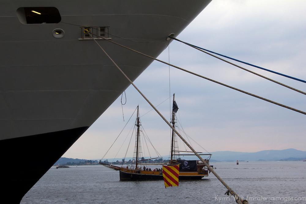 Europe, Norway, Oslo. Cruiseship port in Oslo, Norway.