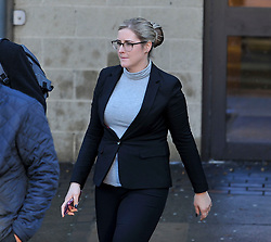 Pictured: Amanda Donaldson leaves court.<br /> <br /> Author JK Rowling is suing her former PA Amanda Donaldson for damages after the Harry Potter author claimed Ms Donaldson used Ms Rowling's money to go on lavish shopping sprees, including buying two designer cats, spending more than &pound;3600 GBP on makeup and more than &pound;1600 GBP in coffee chain Starbucks. The case, before Sheriff Derek O'Carroll, is being heard at Airdrie Sheriff Court.<br /> <br /> (c) Dave Johnston / EEm