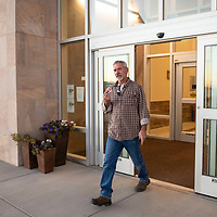 Matt Dillion leaving the Cibola County Complex after voting in the mid-term elections, Tuesday Nov. 6. in Grants. It took Dillon 50 minutes to vote Tuesday afternoon.