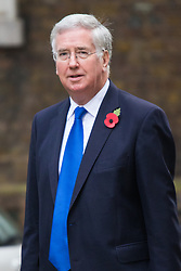 Downing Street, London, November 3rd 2015.  Defence Secretary Michael Fallon arrives at 10 Downing Street to attend the weekly cabinet meeting. /// Licencing: Paul@pauldaveycreative.co.uk Tel:07966016296 or 020 8969 6875