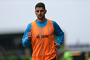 Forest Green Rovers Omar Bugiel(11) warming up during the Vanarama National League match between Forest Green Rovers and Wrexham FC at the New Lawn, Forest Green, United Kingdom on 18 March 2017. Photo by Shane Healey.