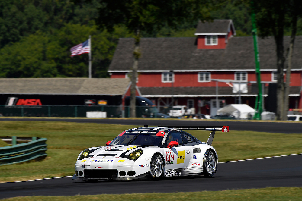 26-28 August, 2016, Alton, Virginia USA<br /> 912, Porsche, 911 RSR, GTLM, Earl Bamber, Frederic Makowiecki<br /> &copy;2016, Scott R LePage <br /> LAT Photo USA
