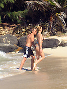 Nicolette Sheridan and Michael Bolton  swimming romantically on Flamands Beach.St. Barth, Caribbean.Friday, December 28, 2007 .Photo By Celebrityvibe.com.To license this image please call (212) 410 5354; or.Email: celebrityvibe@gmail.com ;.website: www.celebrityvibe.com