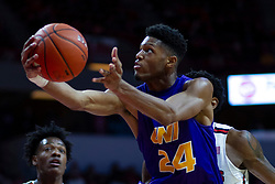 NORMAL, IL - December 31: Isaiah Brown reaches out for a lay up during a college basketball game between the ISU Redbirds and the University of Northern Iowa Panthers on December 31 2019 at Redbird Arena in Normal, IL. (Photo by Alan Look)