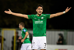 Luka Menalo of Olimpija during football match between NS Mura and NK Olimpija in 15th Round of Prva liga Telekom Slovenije 2019/20, on November 3, 2019 in Fazanarija Stadium, Murska Sobota, Slovenia. Photo by Blaz Weindorfer / Sportida